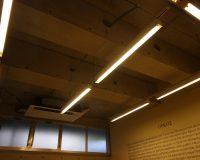 自由が丘 学習塾 コンクリート天井 分岐配線とファン設置工事