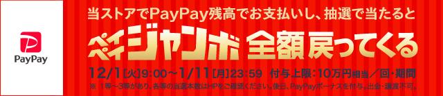 PayPay残高でのお支払いなら10%戻ってくる