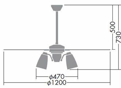 DP-38029 + DP-37446L + DP-37589 DAIKO(ダイコー)製シーリングファンライト【生産終了品】