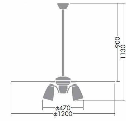 DP-38029 + DP-37978 + DP-37591 DAIKO(ダイコー)製シーリングファンライト【生産終了品】