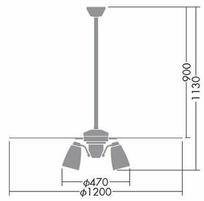 DP-38029 + DP-37446L + DP-37591 DAIKO(ダイコー)製シーリングファンライト【生産終了品】