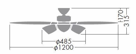 DCH-36834L DAIKO(ダイコー)製シーリングファンライト【生産終了品】