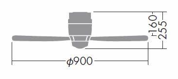 DP-37455 DAIKO(ダイコー)製シーリングファン【生産終了品】