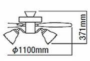 AEE695074 + AA35172L KOIZUMI(コイズミ)製シーリングファンライト【生産終了品】
