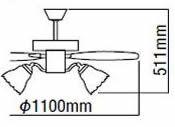 AEE695075 + AA35172L KOIZUMI(コイズミ)製シーリングファンライト【生産終了品】