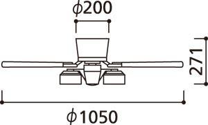 WF208LD / WF208ND ODELIC(オーデリック)製シーリングファンライト【生産終了品】