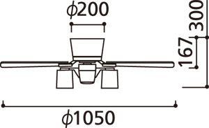 WF408 ODELIC(オーデリック)製シーリングファンライト【生産終了品】