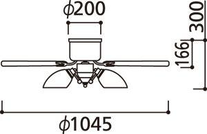 WF444LD / WF444ND ODELIC(オーデリック)製シーリングファンライト【生産終了品】