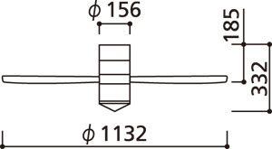 WF491 ODELIC(オーデリック)製シーリングファン【生産終了品】