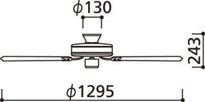 WF681 ODELIC(オーデリック)製シーリングファン【生産終了品】