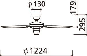 WF802 ODELIC(オーデリック)製シーリングファン【生産終了品】