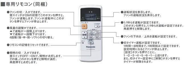 XS92172/SP7092 + SPE5472E + SPK016 Panasonic(パナソニック)製シーリングファンライト【生産終了品】
